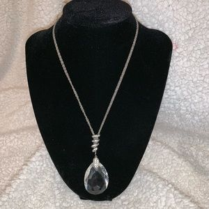 Express Crystal Pendant Necklace
